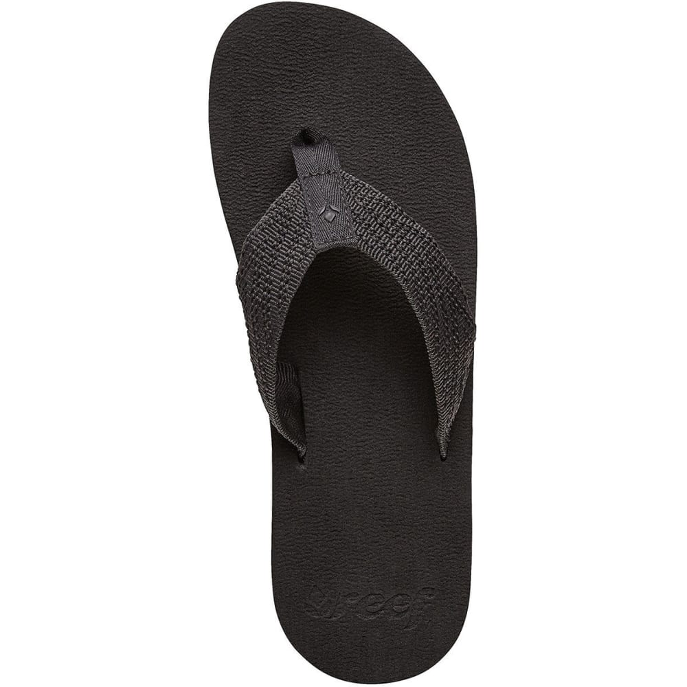 REEF Juniors' Sandy Flip-Flops - BLACK