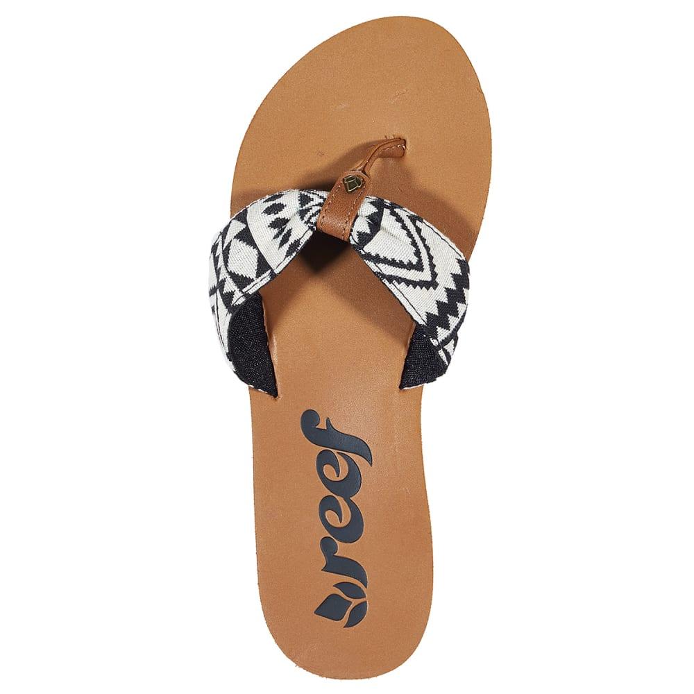 REEF Juniors' Scrunch Tx Sandals - BLACK PTRND
