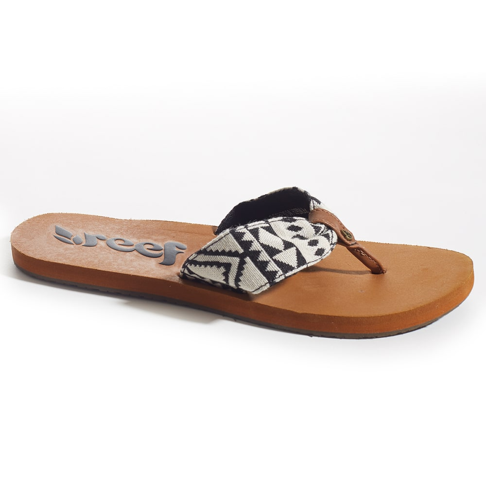 REEF Juniors' Scrunch Tx Sandals - BLACK PTRND