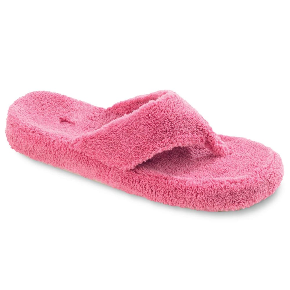 ACORN Women's New Spa Thong Slippers - PINK