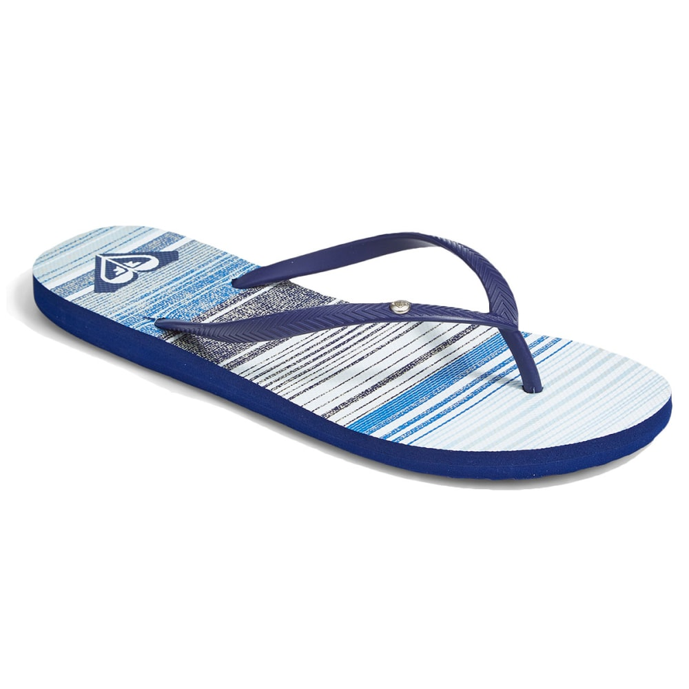 ROXY Women's Bermuda Flip Flops - NAVY STRIPES