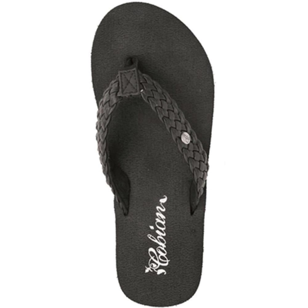 COBIAN Women's Braided Bounce Sandals - BLACK