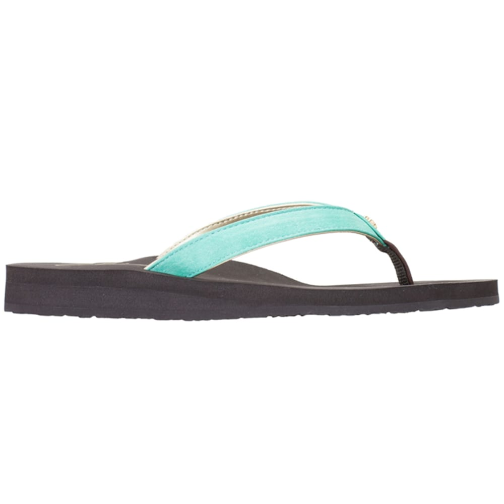 COBIAN Women's Skinny Bounce Sandals, Black - TEAL