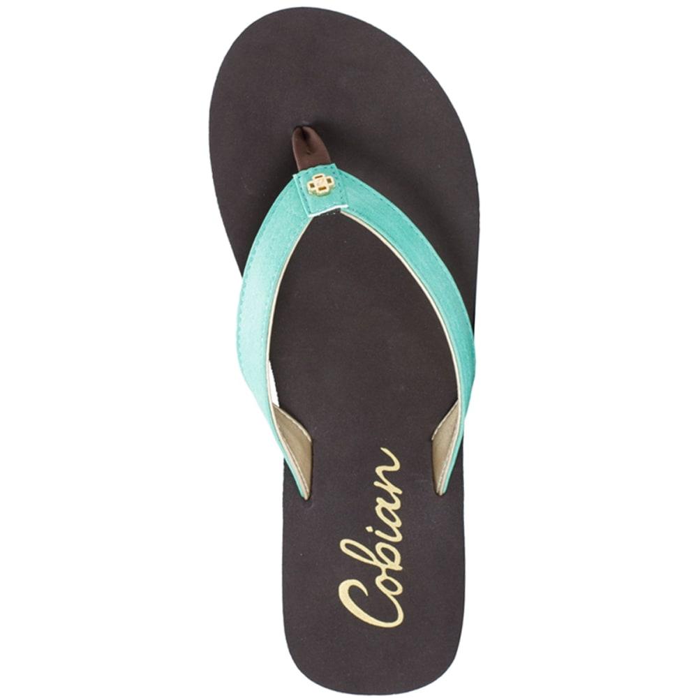 COBIAN Women's Skinny Bounce Sandals, Black - TEAL