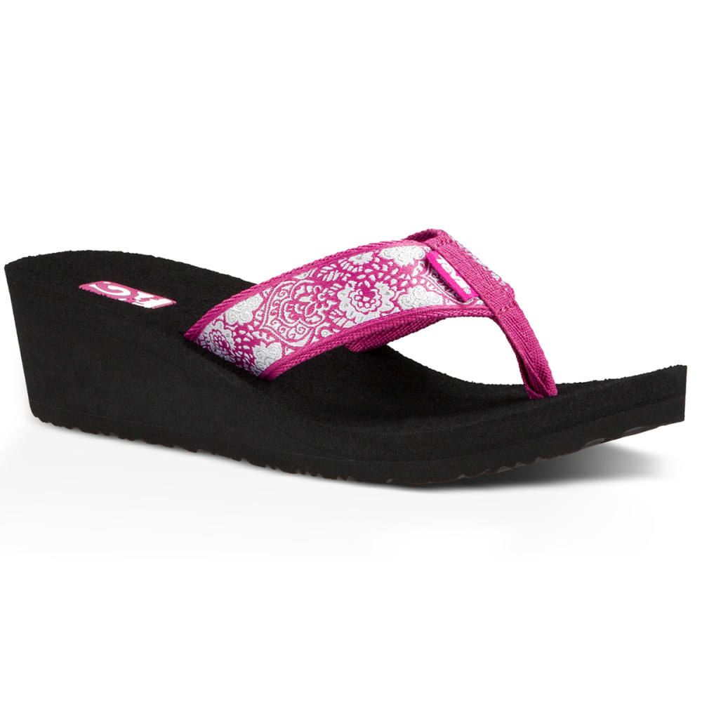 TEVA Women's Mandalyn Wedge Sandals, Harmony Magenta - MAGENTA