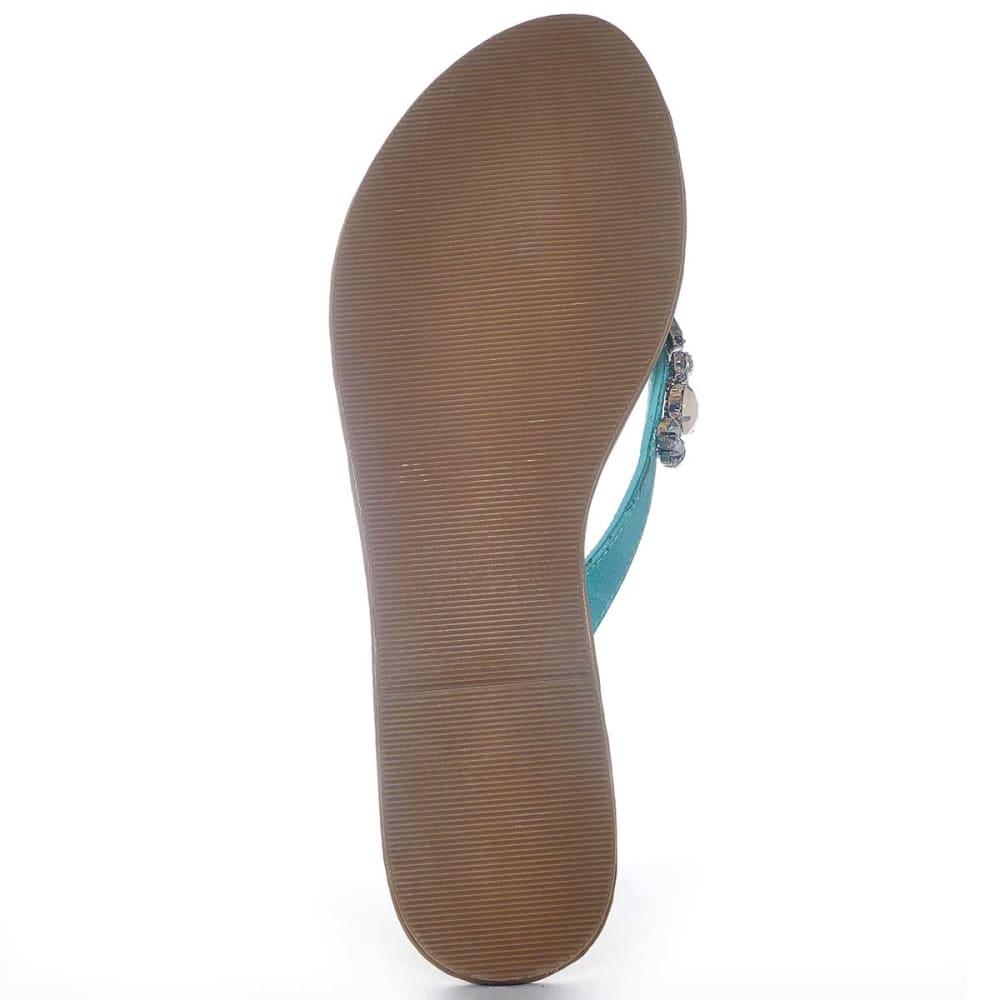 OLIVIA MILLER Juniors' Jeweled Thongs - MINT