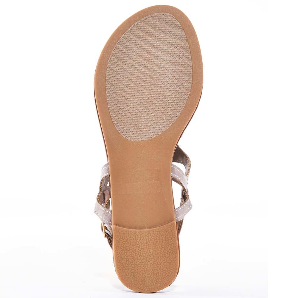 OLIVIA MILLER Juniors' Embellished Thongs - TAUPE
