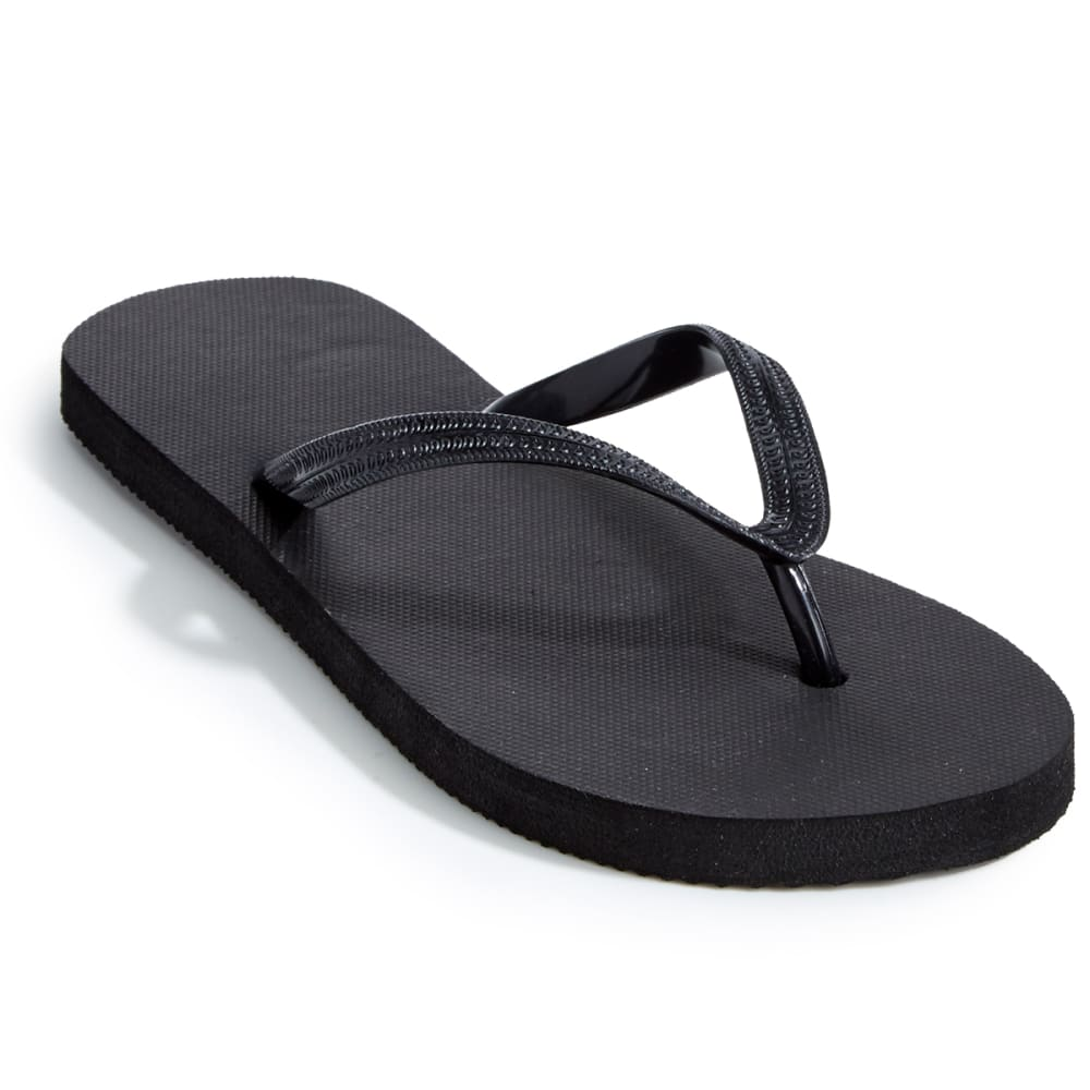 EASTMAN Women's Aquastop Flip Flops - BLACK