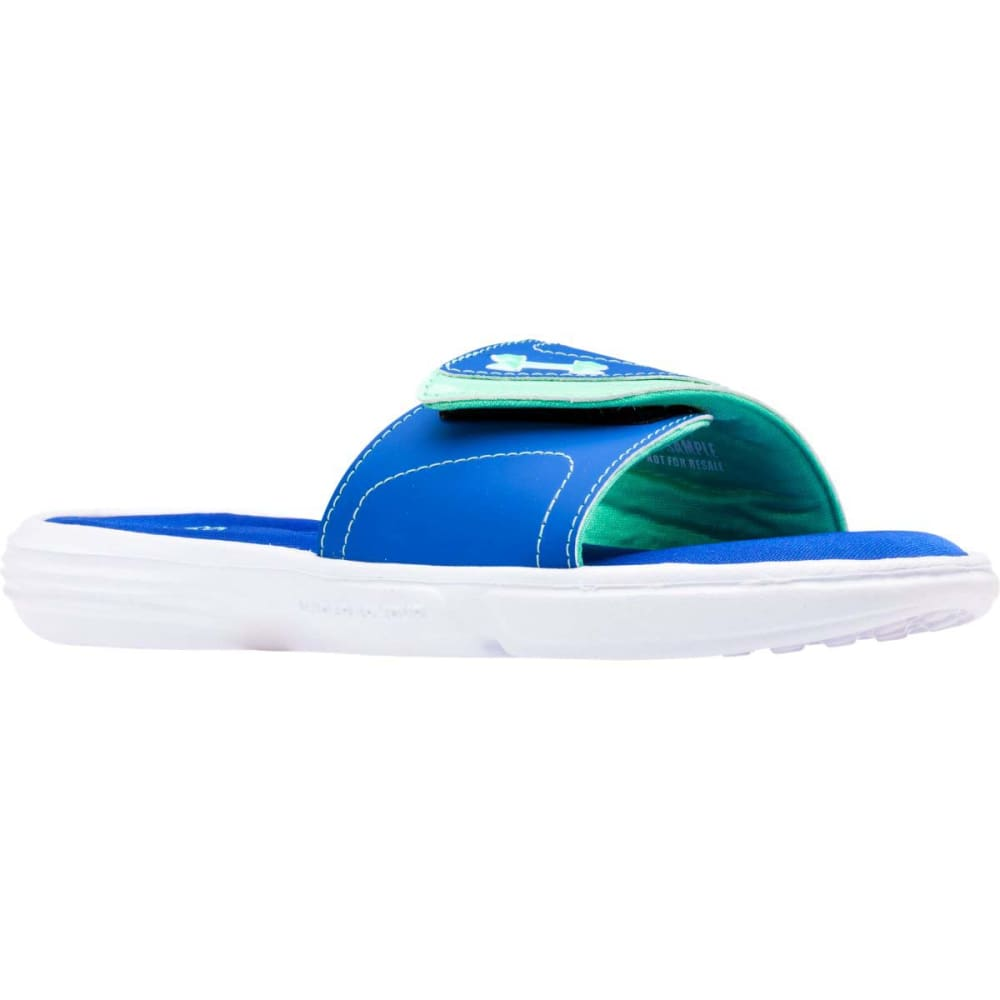 UNDER ARMOUR Women's Ignite VII Slide Sandals - TEAM ROYAL/ANTIFREEZ