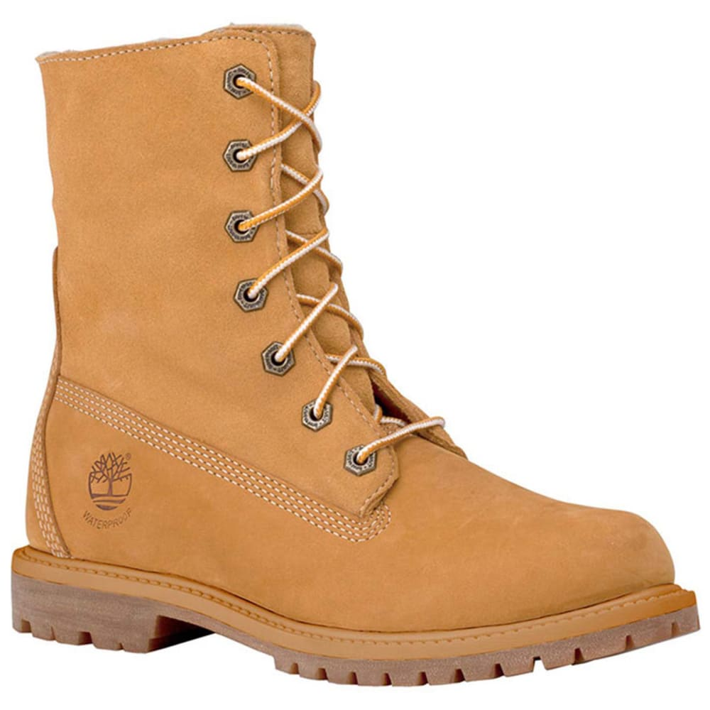 TIMBERLAND Women's Authentics Teddy Fleece Fold-Over Boots - WHEAT WIDE