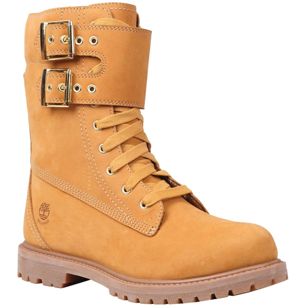 TIMBERLAND Juniors' Premium Wheat Double Strap Boots - WHEAT