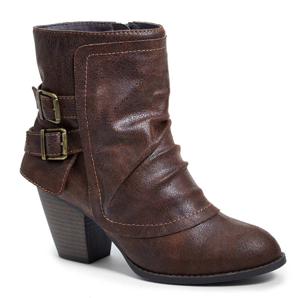 JELLYPOP Juniors' Eve Fold Over Ankle Booties - BROWN