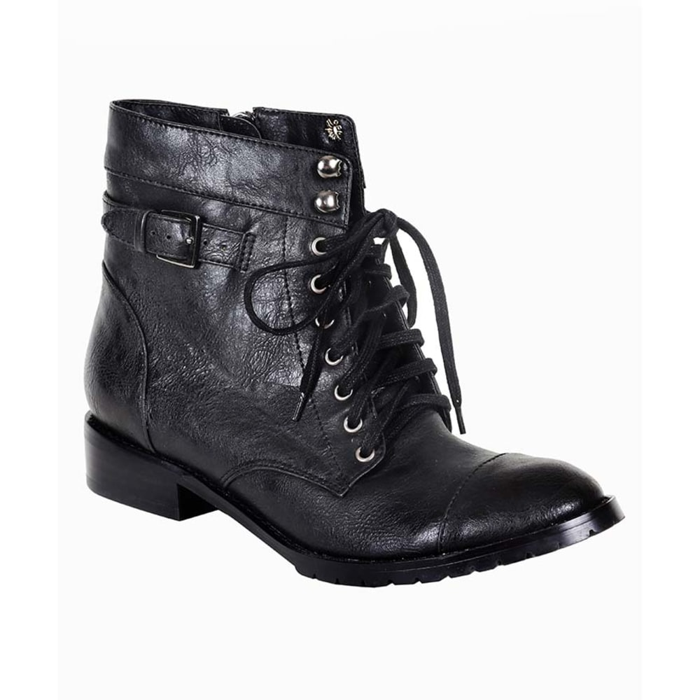 RESTRICTED Juniors' Half Moon Lace-Up Boots - BLACK