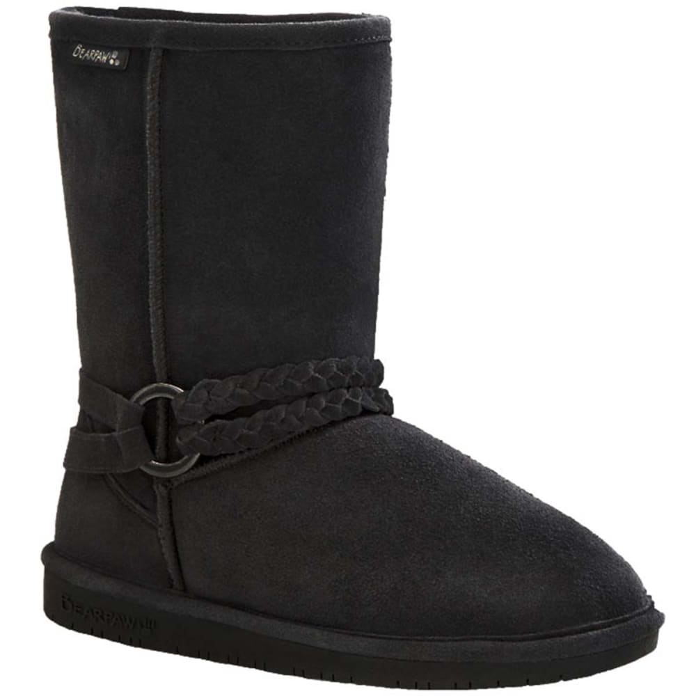 BEARPAW Juniors' Adele Belted Boots - BLACK