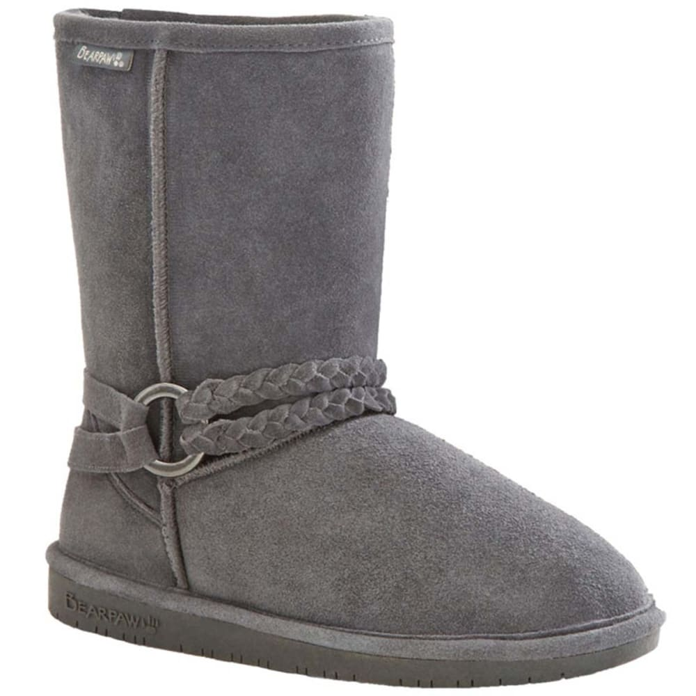 BEARPAW Juniors' Adele Belted Boots - CHARCOAL