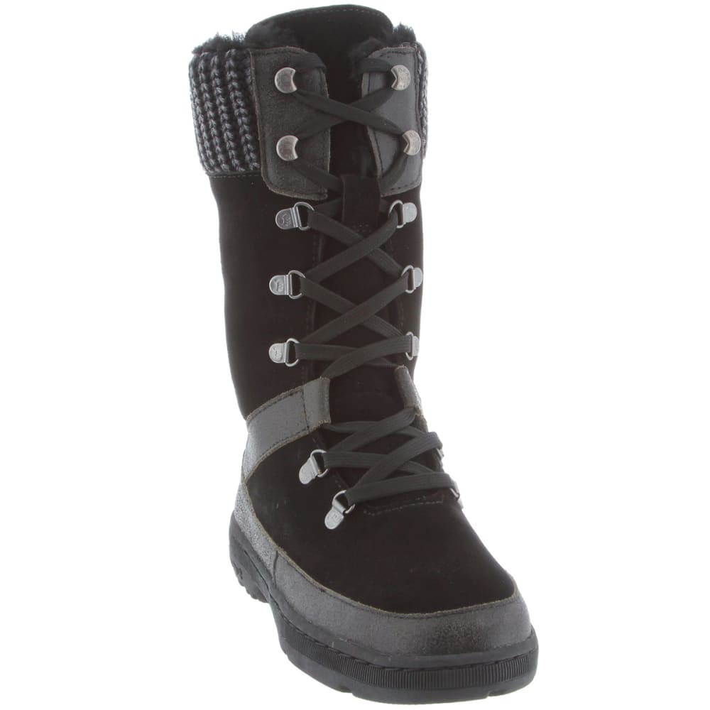 BEARPAW Juniors' Serena Black Lace Boots - BLACK