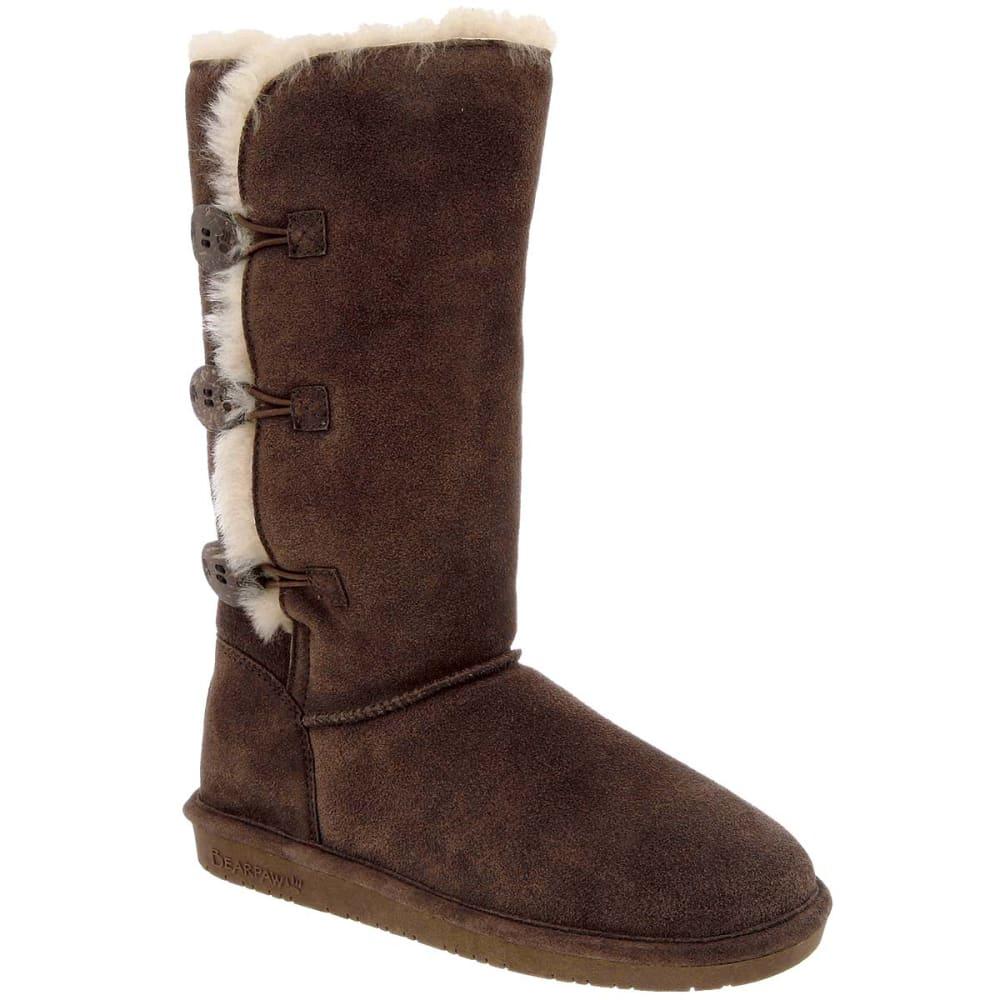 BEARPAW Juniors' Lauren 12 in. Boots - CHOCOLATE-205