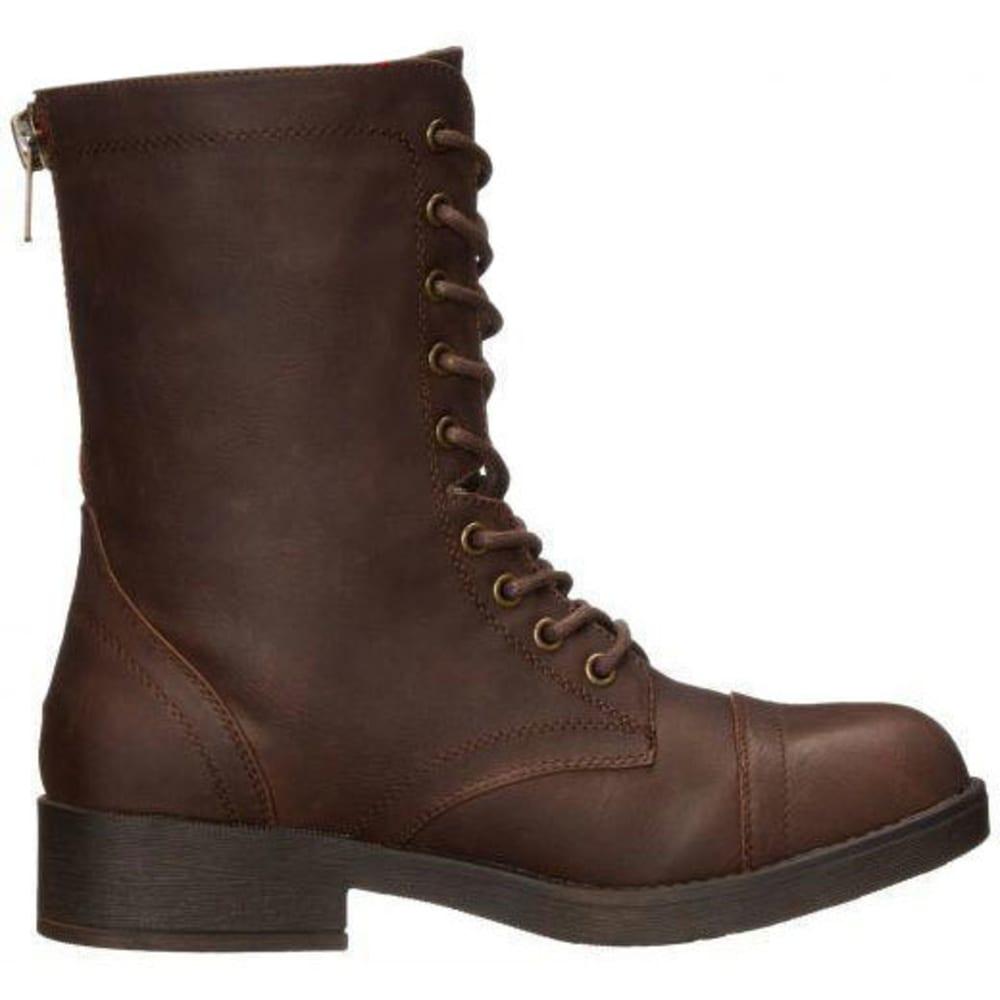 MADDEN GIRL Women's Mavinn Combat Boots - BROWN