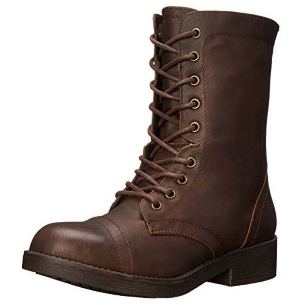 MADDEN GIRL Women's Mavinn Combat Boots - BROWN