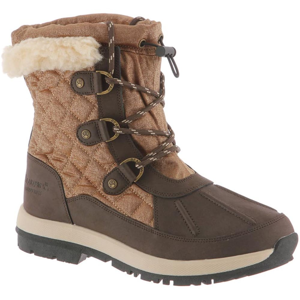 BEARPAW Women's Bethany Waterproof Boots - CHOCOLATE/TAN -211