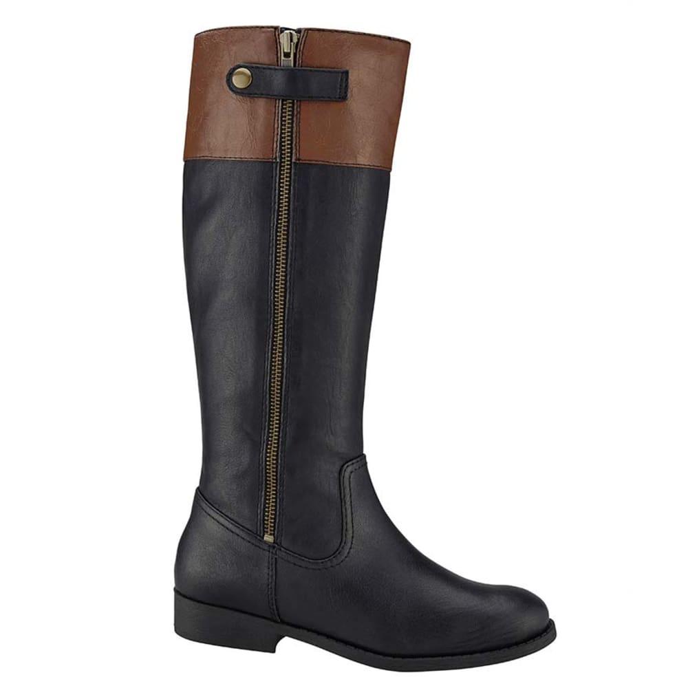 JELLYPOP Juniors' First Riding Boots, Black/Natural - BLACK