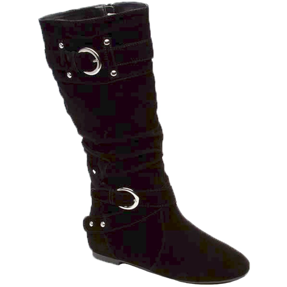 YOKI Juniors' Trisha Faux Suede Boots - BLACK
