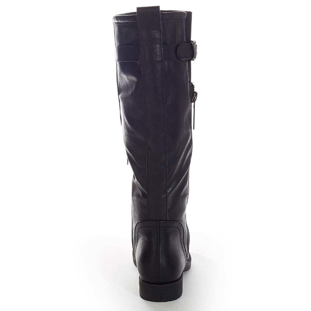 YOKI Juniors' Davida Quilted Zipper Riding Boots - BLACK