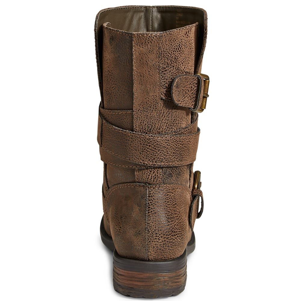 RAMPAGE Women's Islet Distressed Boots - BROWN