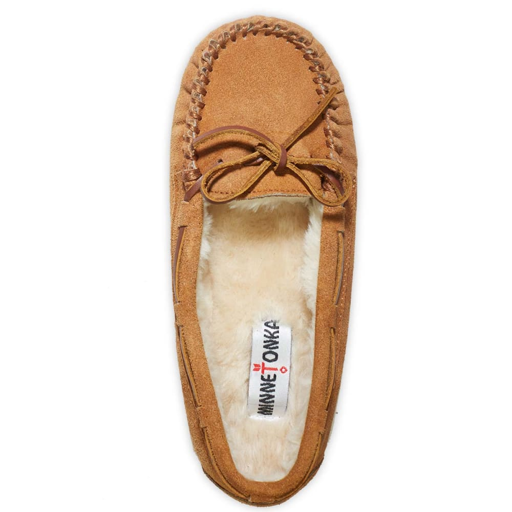 MINNETONKA Women's Trapper Faux Fur Moc - CINNAMON