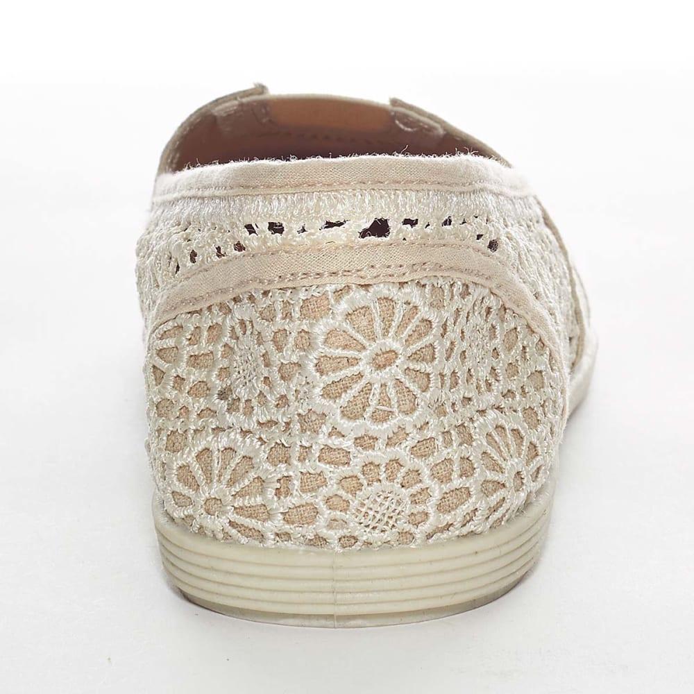 SODA Juniors' Koger Crochet Canvas Shoes - NATURAL
