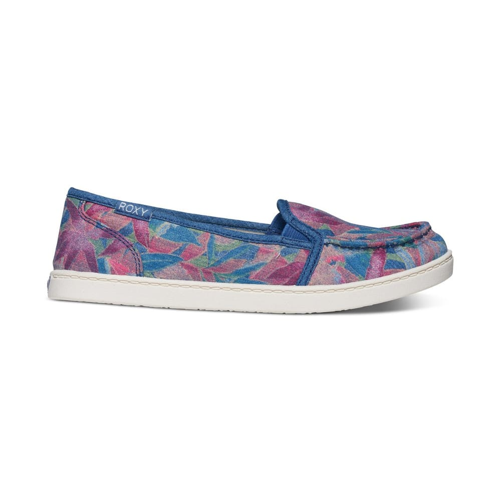ROXY Women's Lido III Slip-On Shoes - BLUE HAZE FLORAL