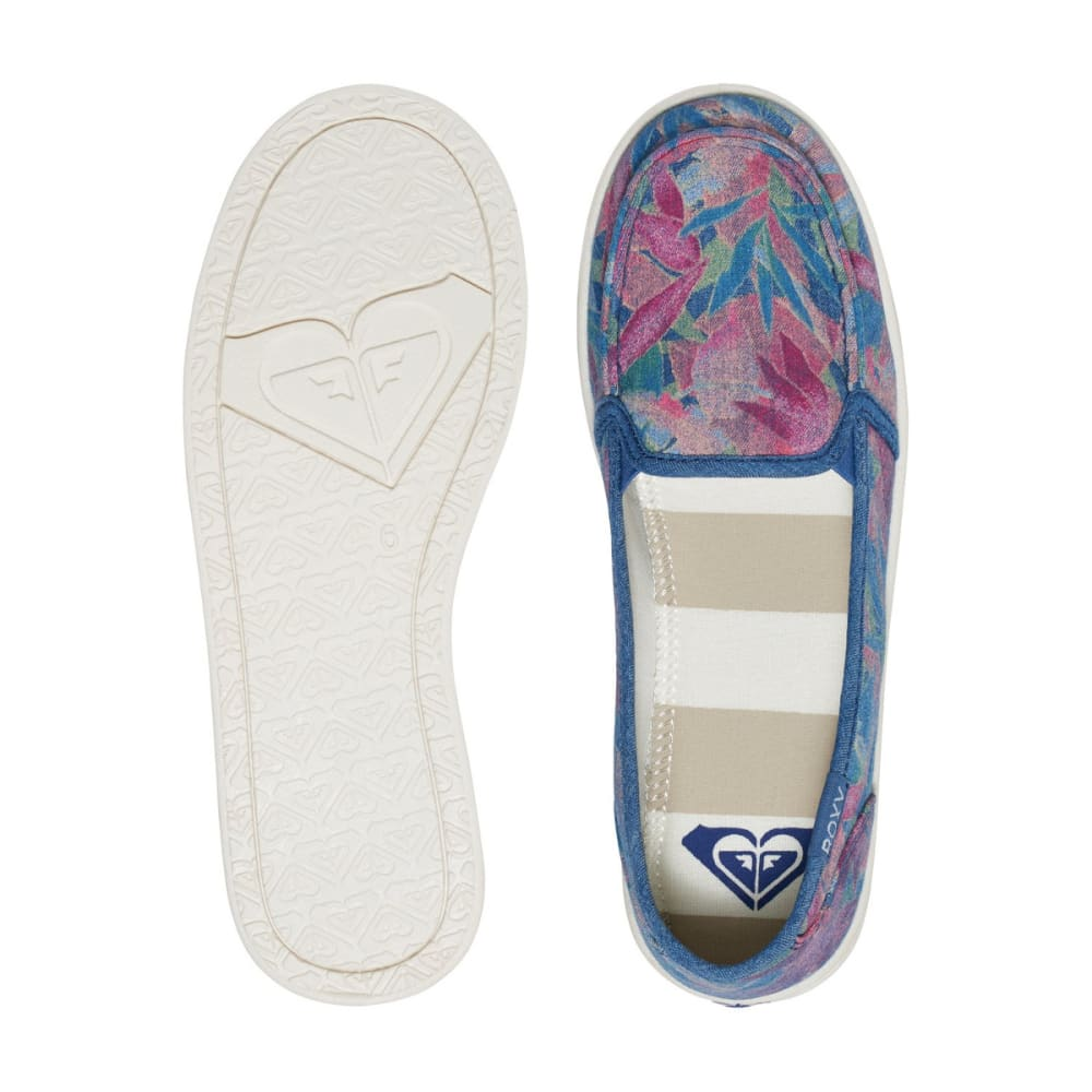ROXY Women's Lido III Slip-On Shoes - BLUE HAZE FLORAL