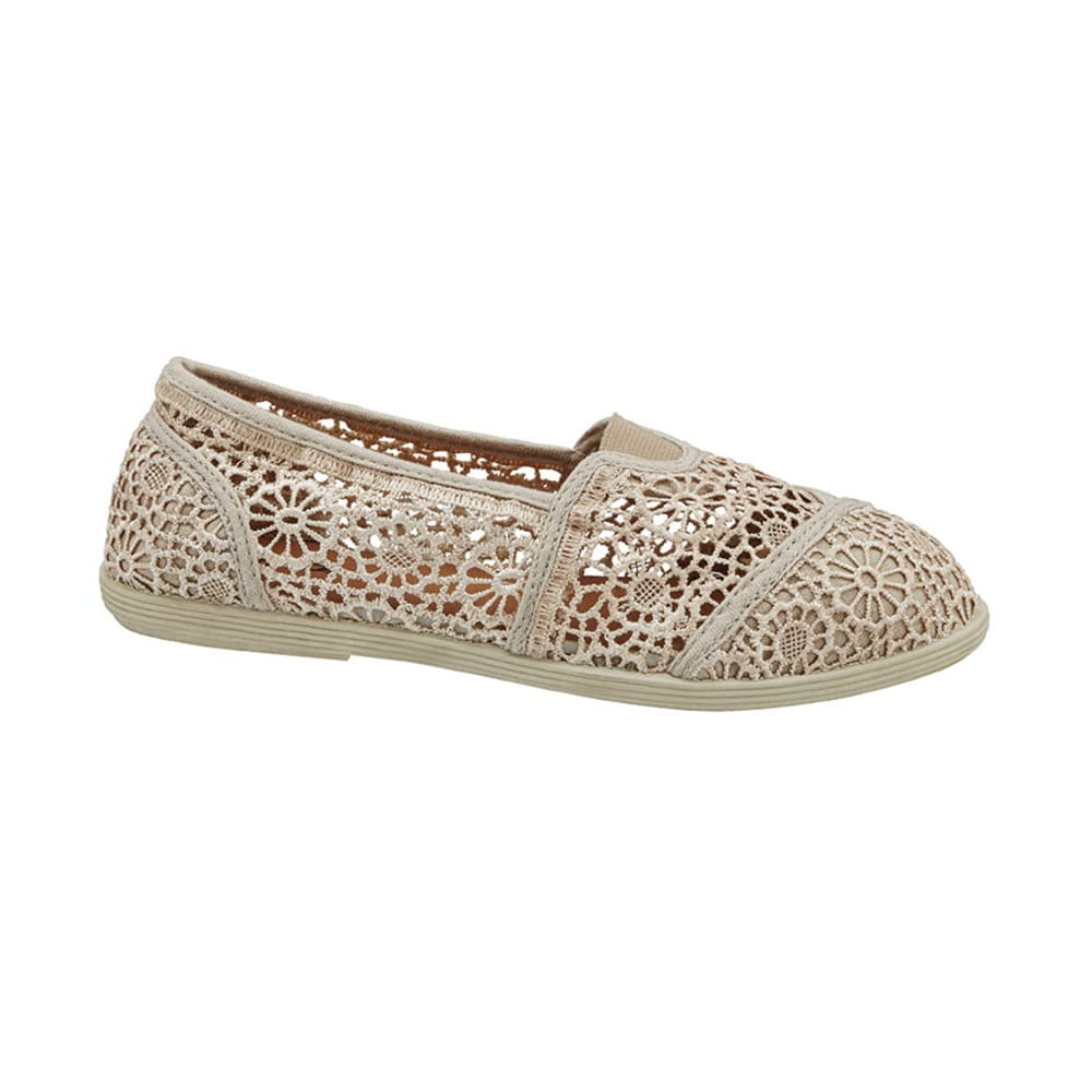 SODA Junior's Cope Crochet Canvas Shoes - TAUPE