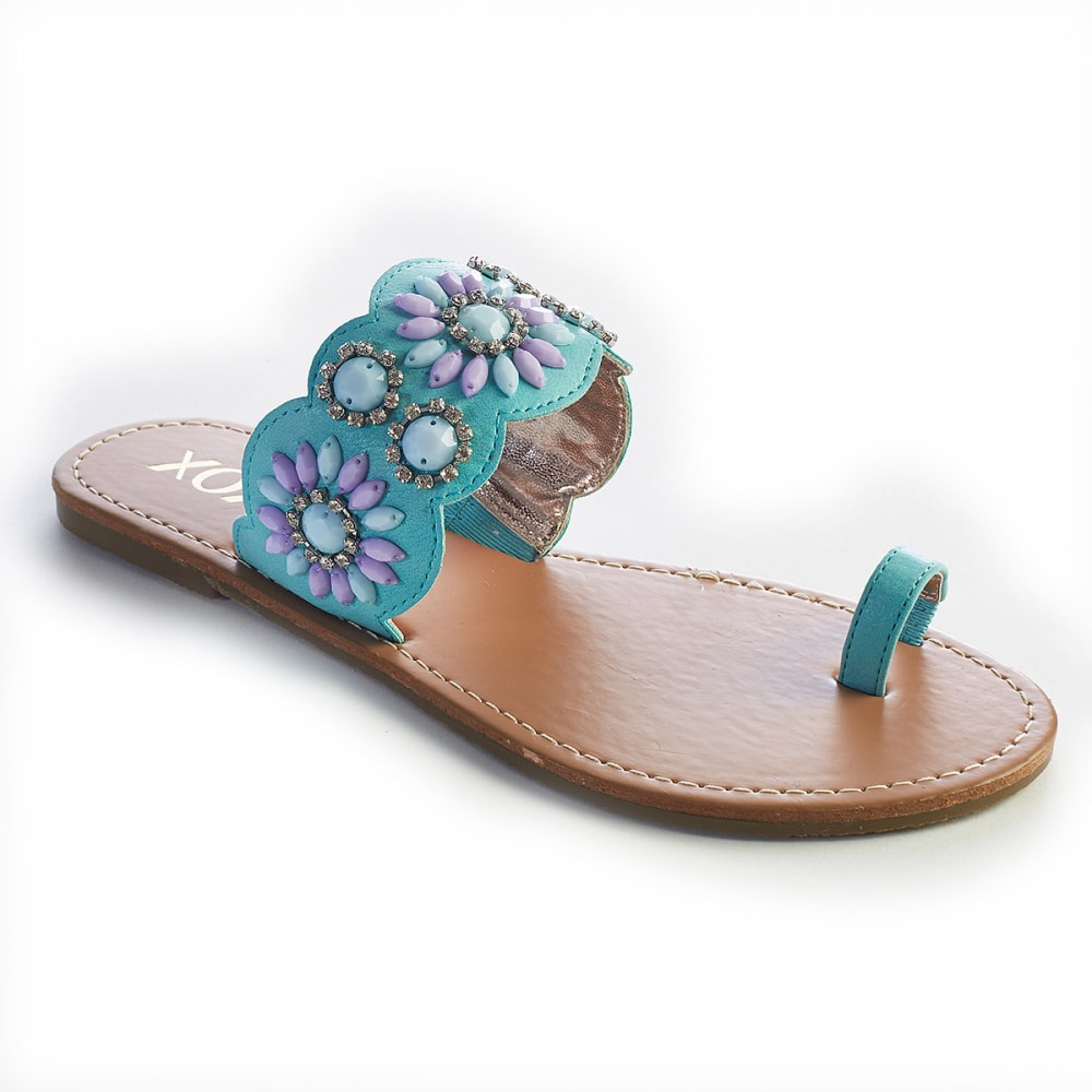 XOXO Juniors' Rio Gem Slide Toe Sandals - TURQUOISE