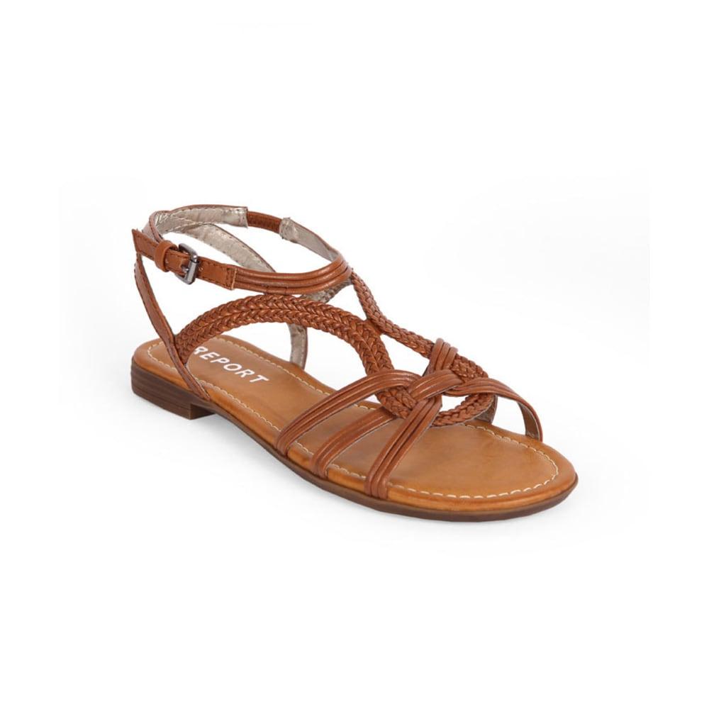 REPORT Juniors' Gilly Braided Gladiator Sandals - COGNAC