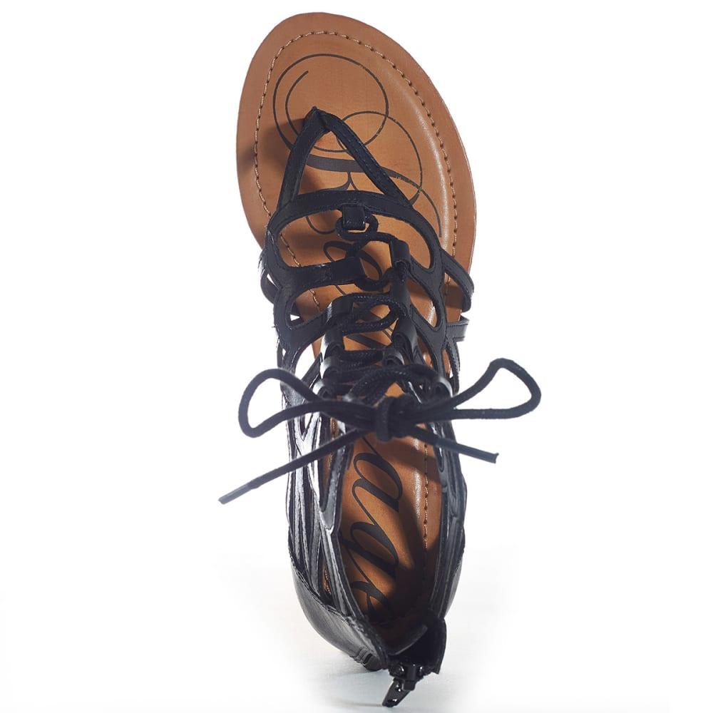 RAMPAGE Junior's Salina Gladiator Sandals - BLACK