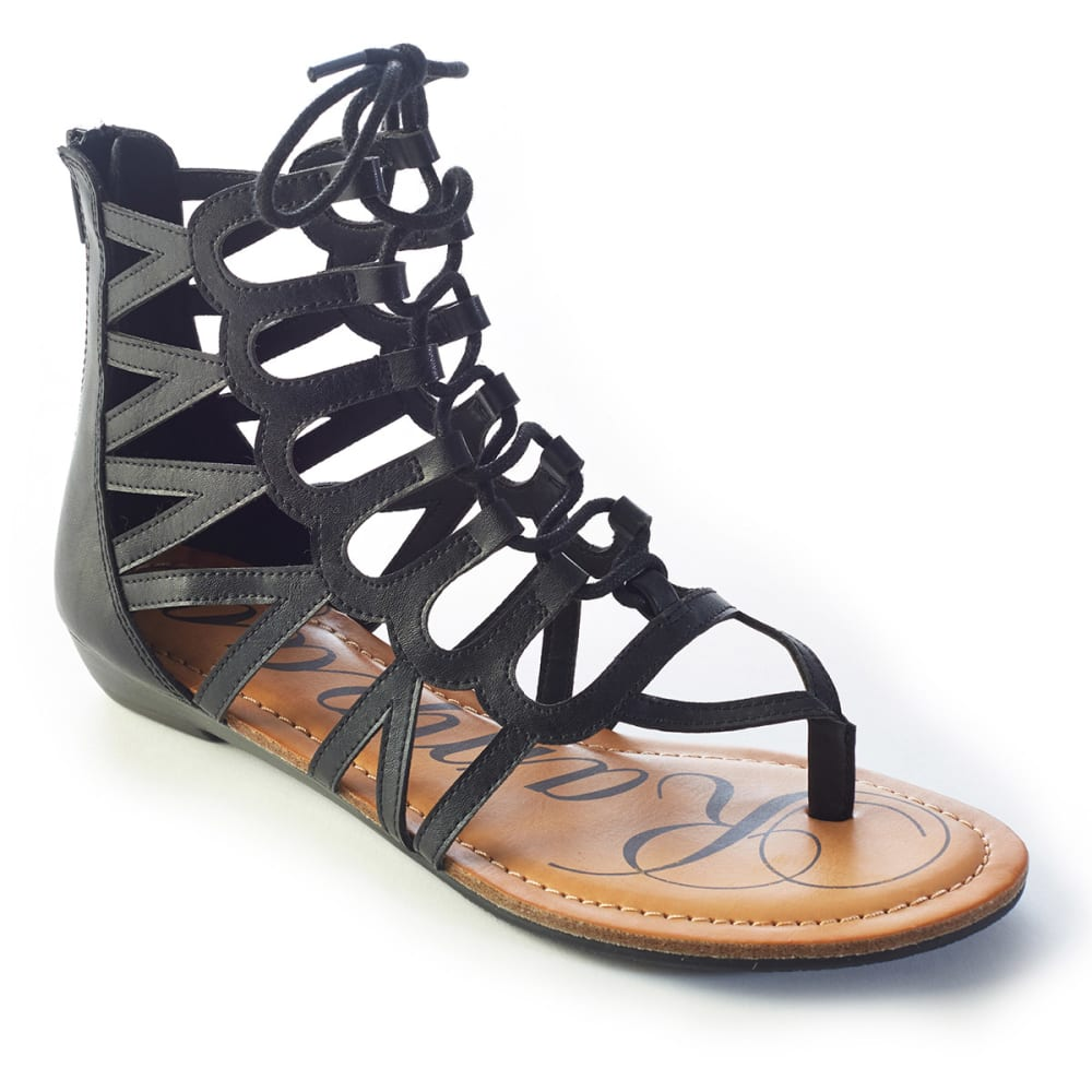 RAMPAGE Junior's Salina Gladiator Sandals - BLACK