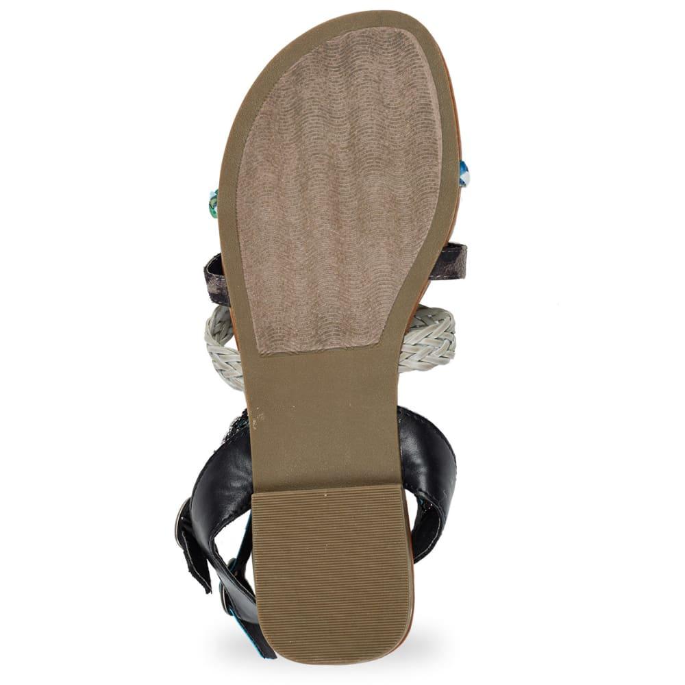 RAMPAGE Juniors' Romulus Gladiator Sandals - BLACK/MULTI