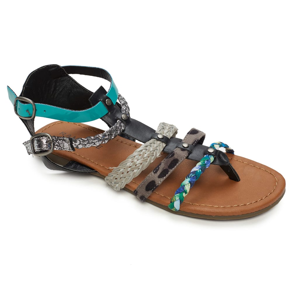 RAMPAGE Juniors' Romulus Gladiator Sandals - BLACK/MULTI
