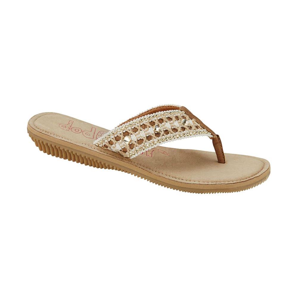 JELLYPOP Juniors' Newstar Jute Bling Thong Sandals - CAMEL