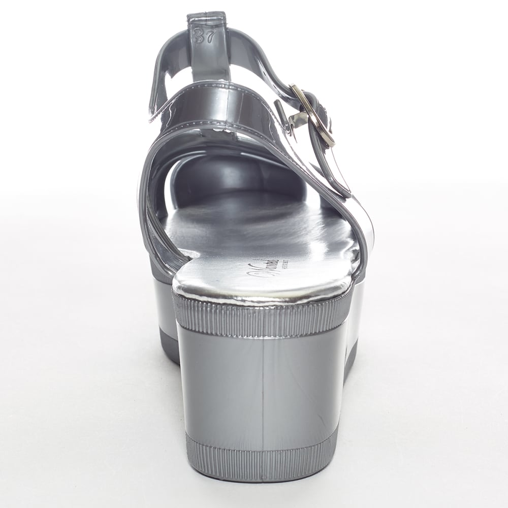 WANTED Juniors' Platform Sandals - SILVER