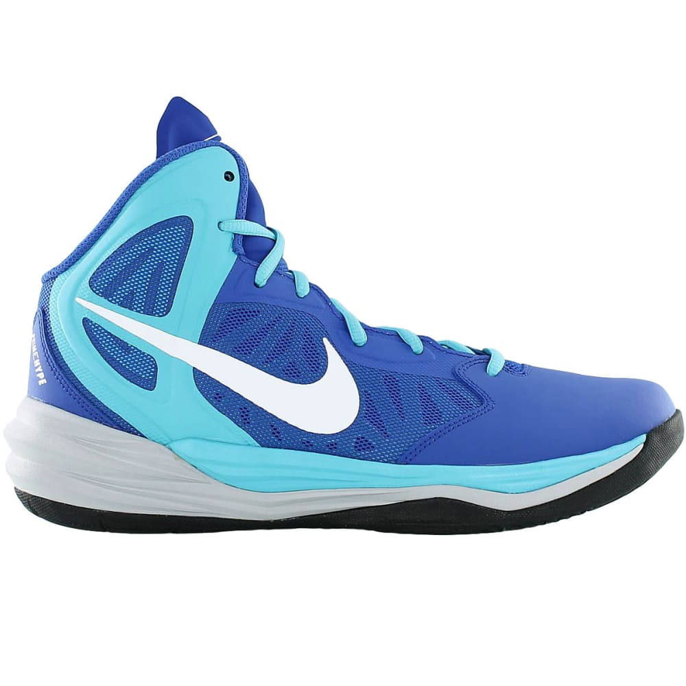 NIKE Men's Prime Hype DF Basketball Shoes - ROYAL/GREY