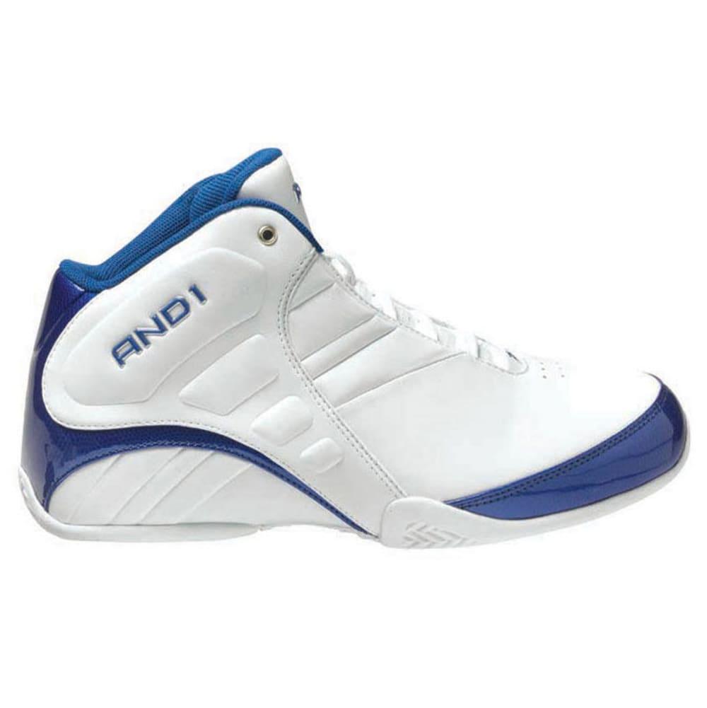 AND1 Men's Rocket 3.0 Shoes - WHITE/ROYAL