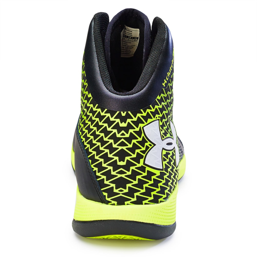 UNDER ARMOUR Men's Micro G® Torch Basketball Shoes - BLACK/YELLOW