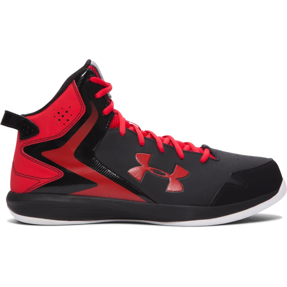 UNDER ARMOUR Men's UA Lockdown Basketball Shoes - BLACK/RED