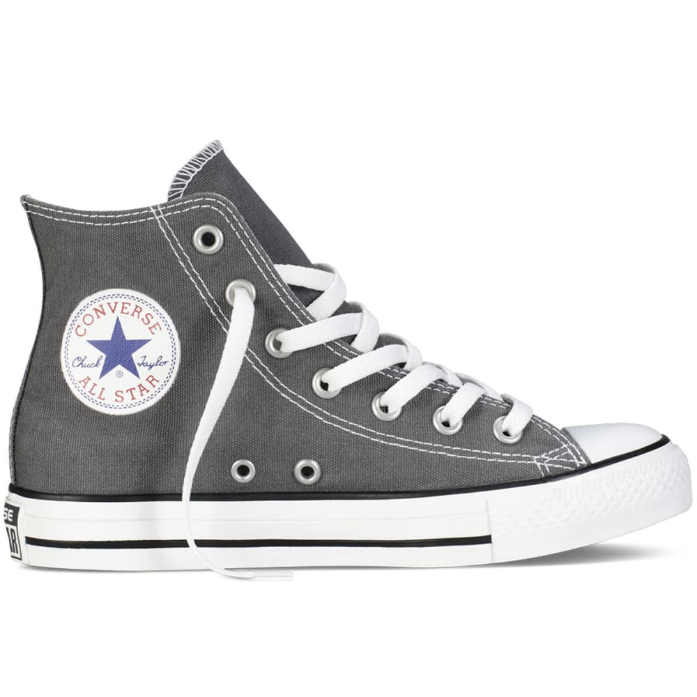 CONVERSE Unisex Chuck Taylor All Star Hi Top Shoes, Charcoal - CHARCOAL