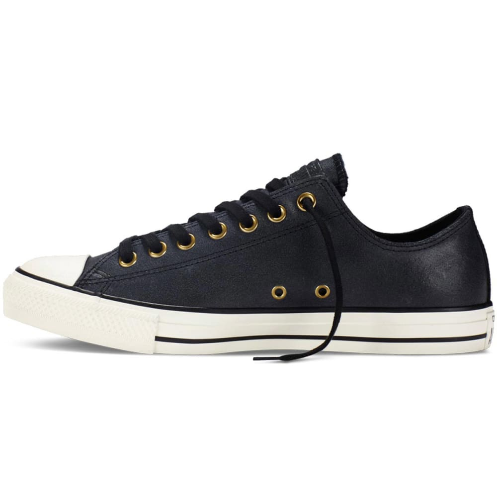CONVERSE Men's Chuck Taylor® All Star® Ox Vintage Leather Sneakers - BLACK
