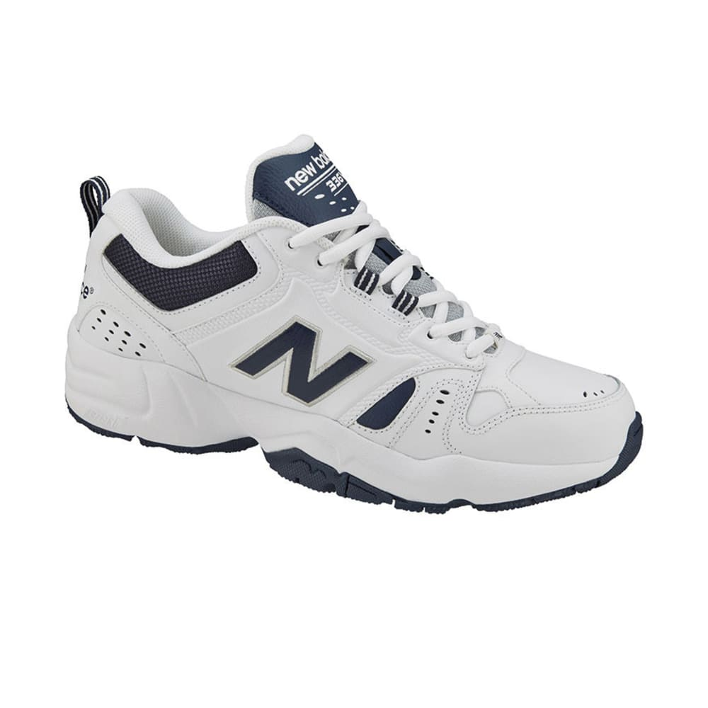 NEW BALANCE Men's 336V2 Sneakers, White/Navy, Wide -   VALUE DEAL - WHITE/NAVY