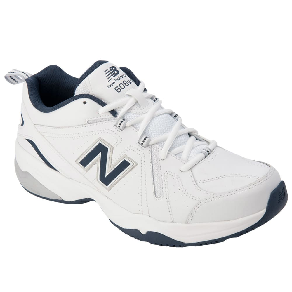 NEW BALANCE Men's 608v4 Sneakers, Medium Width - WHITE/NAVY