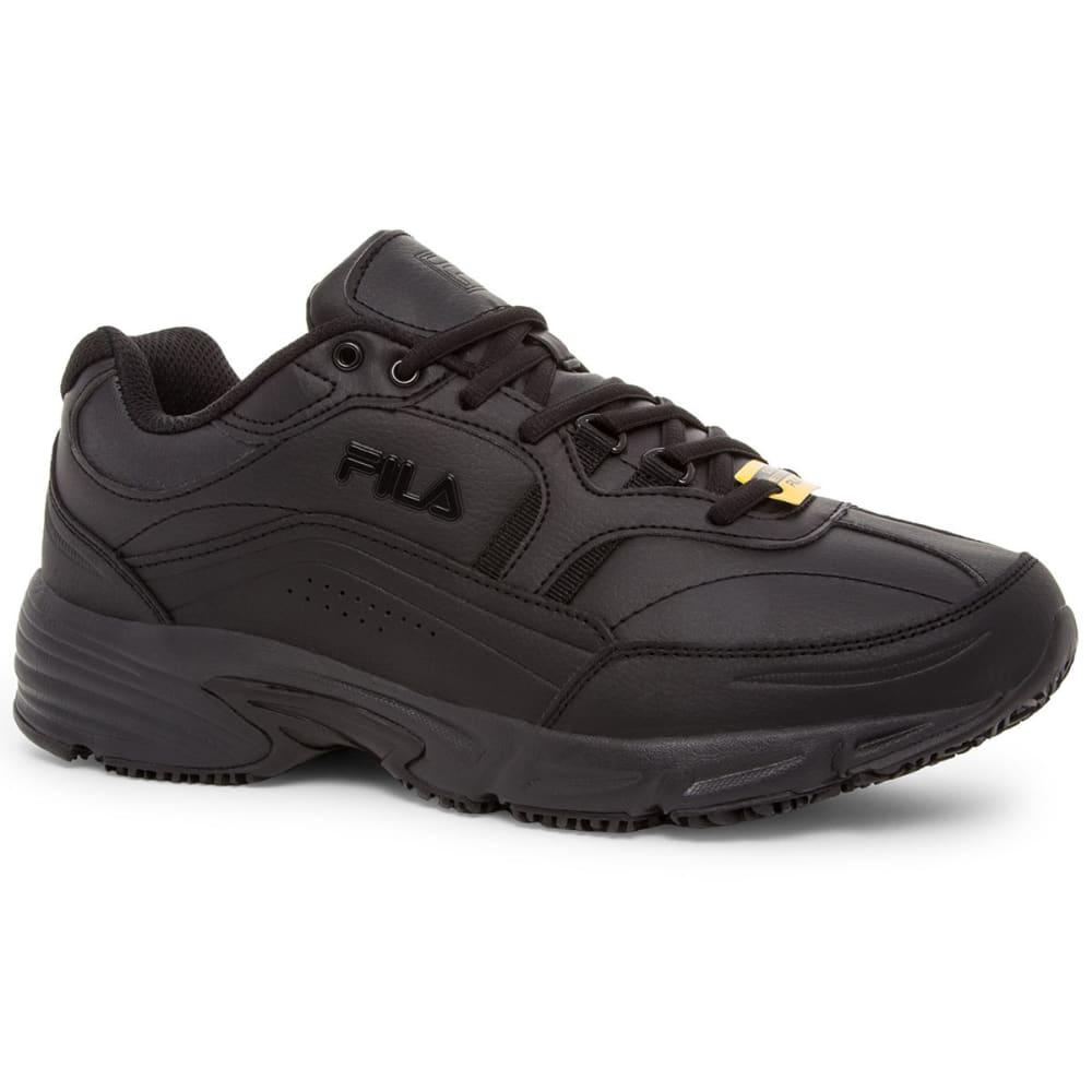 FILA Men's Memory Training Shoes, Wide Width - BLACK